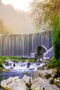 Feiyun waterfall in zhangjiang scenic spot libo china this picture shows the landscape is located Stock Photo