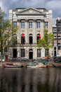 Felix meritis building in amsterdam th century neoclassical by the kaizersgracht canal netherlands Stock Image