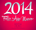 Feliz ano nuevo spanish text happy new year lettering easy edit Stock Photography