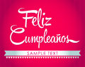 Feliz cumpleanos happy birthday spanish text vector available Royalty Free Stock Photo