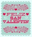 Feliz Dia De San Valentin - Happy Valentines Day Spanish Text