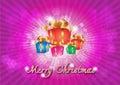 Feliz natal background Fotos de Stock Royalty Free