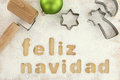 Feliz navidad baking preparation background Royalty Free Stock Photo