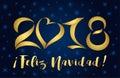 2018 feliz navidad card golden figures