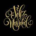 Feliz Navidad hand lettering decoration text for greeting card design template. Merry Christmas typography label in