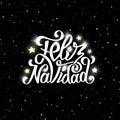 Feliz Navidad Lettering. Merry...