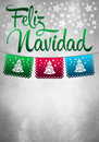 Feliz navidad merry christmas spanish text card poster copyspace Royalty Free Stock Images