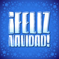 Feliz navidad merry christmas spanish text vector calligraphic lettering Royalty Free Stock Photo