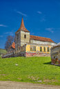 Felmer church fortified in a small village of transylvania romania Stock Image