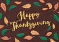 Felt Happy Thanksgiving