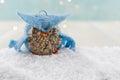 Felt Owl Ornament in Fluffy Snow