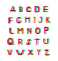 Felt tip pen alphabet set big letters pack with popular stereo effect Stock Images