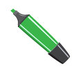 The felt tip pen green cartoon on white Royalty Free Stock Photos