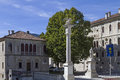 Feltre in veneto venetian lion pillar Stock Images