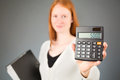 Female Accountant with a Calculator Royalty Free Stock Photo