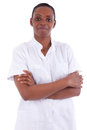 Female african american healthcare worker Royalty Free Stock Photography