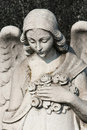Female angel sculpture Stock Photo
