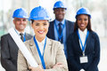 Female architect colleagues beautiful young with on background Royalty Free Stock Photo