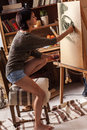 Female artist painter Royalty Free Stock Photo