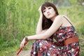 Female artist thinking Royalty Free Stock Photo