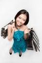 Female asian shopper Stock Images