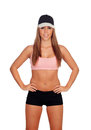 Female Athlete With Cap Ready ...