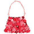 Female bag from red florets Stock Photo