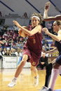 Female Basketball players in action Royalty Free Stock Images