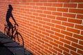 Female bikers shadow Royalty Free Stock Photo