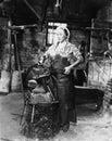 Female blacksmith Royalty Free Stock Photo