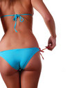 Female body in swimwear Stock Photo