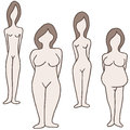 Female body types an image of a Royalty Free Stock Photo