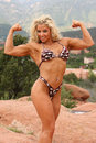 Female bodybuilder Royalty Free Stock Photo
