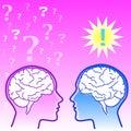 Female brain vs male brain Royalty Free Stock Images