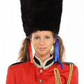 Female British Royal Guards Royalty Free Stock Photo