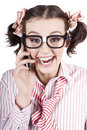 Female Business Person Selling On Smart Phone Stock Photos