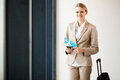 Female business traveller Stock Image