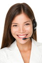 Female call center operator Royalty Free Stock Photo