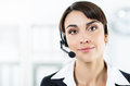 Female call center service operator Royalty Free Stock Photo