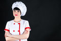 Female chef portrait of closeup Royalty Free Stock Images
