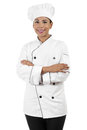 Female chef stock image of isolated on white background Stock Image