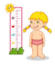 Female child and measures Stock Images