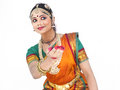 Female classical dancer from india Royalty Free Stock Images