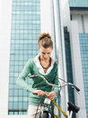Female commuter Stock Photography