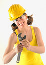 Female construction worker Stock Photos