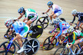 Female cyclists ride fast at championships Royalty Free Stock Photos