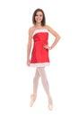 Female Dancer In Christmas Dress