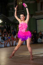 Female dancer performs at dance championship Stock Image