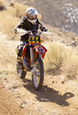 Female Dirt Bike Racer Royalty Free Stock Photography