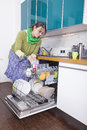 Female doing housework Stock Photos